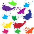 Blotch illustrations and art funny colorful blots Royalty Free Stock Photos