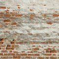 Blotch Red White Old Brick Wall Frame Background Texture Royalty Free Stock Photo