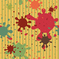 Blots spattered seamless pattern funny Royalty Free Stock Photos