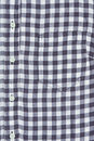 Blouse front of a gingham showing pockets collar and buttons Stock Photos