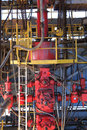 Blow out preventer bop for drilling oil rig upstream industry Royalty Free Stock Photos