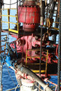 Blow out preventer bop for offshore drilling rig Stock Photo