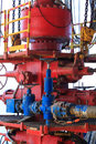 Blow out preventer bop for offshore drilling rig Stock Photos