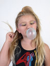 Blowing a Bubble Royalty Free Stock Photo