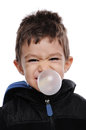 Blowing bubble boy is a Stock Photography