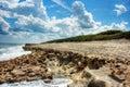 Blowing Rocks Beach & Blue Skies Hobe Sound Florida Royalty Free Stock Photo