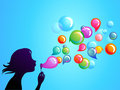 Blowing soap bubbles - 1 Stock Photo