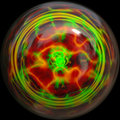 Blown artistic glass ball Stock Image