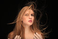 Blown hair Stock Photo