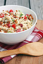 Blt pasta salad with bacon lettuce and tomato Stock Photos