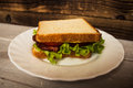 Blt sendwich with egg Royalty Free Stock Photo