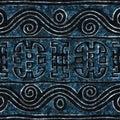 Blu batik seamless texture
