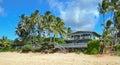 Blu wooden beach House Royalty Free Stock Photo