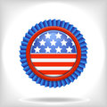 Blue 4 july vector badge. Royalty Free Stock Photography