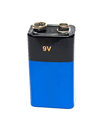 Blue 9v battery Royalty Free Stock Images