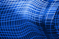 Blue abstract background with curved lines Royalty Free Stock Photo