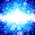 Blue abstract background, star explosion, music fireworks, music Royalty Free Stock Photo