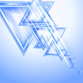 Blue abstract background with triangles Royalty Free Stock Photography