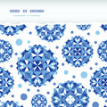 Blue abstract circles square seamless pattern vector background with hand drawn elements Royalty Free Stock Image
