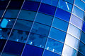 Blue abstract crop of modern office Royalty Free Stock Photo
