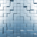 Blue abstract cubes Royalty Free Stock Photo
