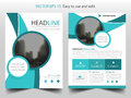 Blue abstract curve Brochure design template vector. Business Flyers infographic magazine poster.Abstract layout template ,