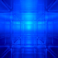 Blue abstract digital space background d computer generated Stock Images