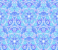 Blue abstract flowers seamless pattern Stock Image