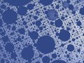 Blue abstract fractal background with a net and circle shaped holes Royalty Free Stock Photo