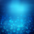 Blue abstract light background lights bokeh Royalty Free Stock Photography