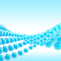 Blue abstract light background made of spheres and space for your text Stock Photo