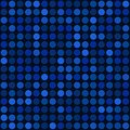Blue abstract seamless background with bubbles spot vector illustration Stock Images