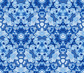 Blue abstract seamless pattern, background. Composed of geometric shapes. Royalty Free Stock Photo