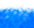 Blue Abstract Snow Background Stock Images