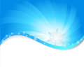 Blue abstract snowflakes backround banner Royalty Free Stock Photography