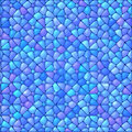 Blue abstract stained glass mosaic vector background Stock Images