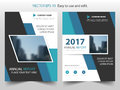 Blue abstract triangle annual report Brochure design template vector. Business Flyers infographic magazine poster.Abstract layout Royalty Free Stock Photo