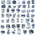 Blue account icons Stock Photo