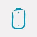 Blue accumulator battery