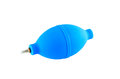 Blue air blower isolate on white background Stock Photo