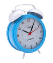 Blue alarm clock Royalty Free Stock Photo