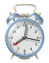 Blue alarm clock ringing d render Royalty Free Stock Photos
