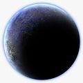 Blue Alien Planet Royalty Free Stock Photo