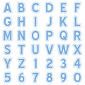 Blue Alphabet Stickers Icons Royalty Free Stock Photo