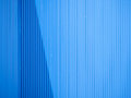 Blue aluminium sheet as a wall able to use industrial background Stock Images