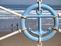 Blue anchor sign Royalty Free Stock Photo