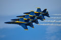 The blue angels air show at naval air station oceana september with us navy s demonstration team Royalty Free Stock Photo
