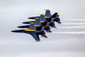 Blue Angels in formation Royalty Free Stock Photo