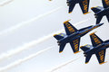 Blue angels jets in formation Royalty Free Stock Photo