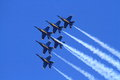 Blue angles delta Royalty Free Stock Image